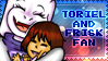 Toriel And Frisk Fan stamp by AISAKA123