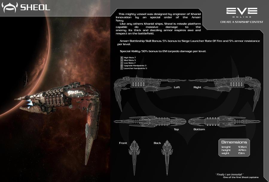 Sheol Amarr battleship by SpMind