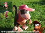 Diddy Kong papercraft by Gipi2009