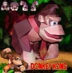 Donkey Kong papercraft by Gipi2009