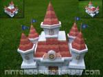Peach's castle papercraft