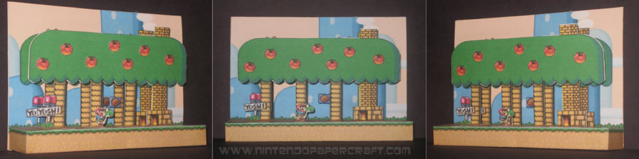 Yoshi's house papercraft by Gipi2009