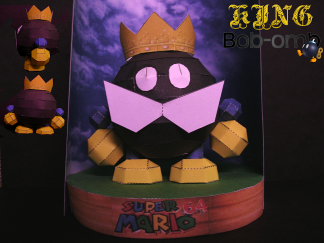 King Bob-omb papercraft by Gipi2009