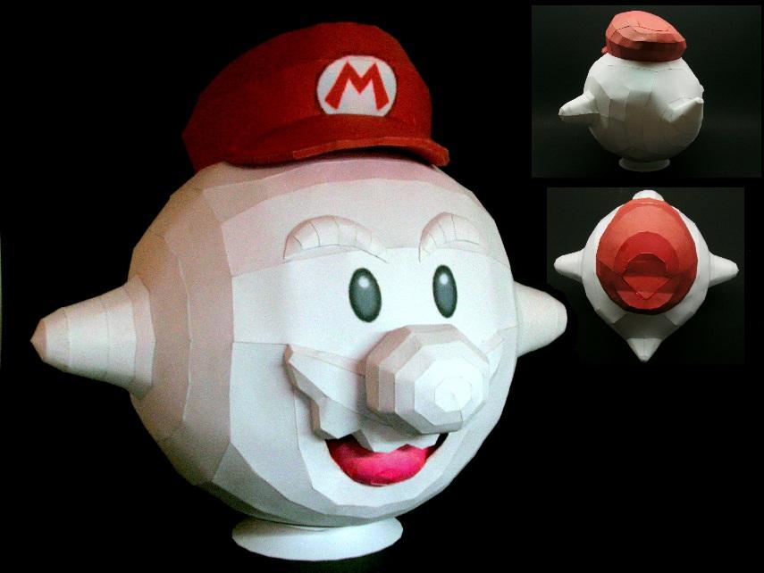 Boo Mario papercraft by Gipi2009