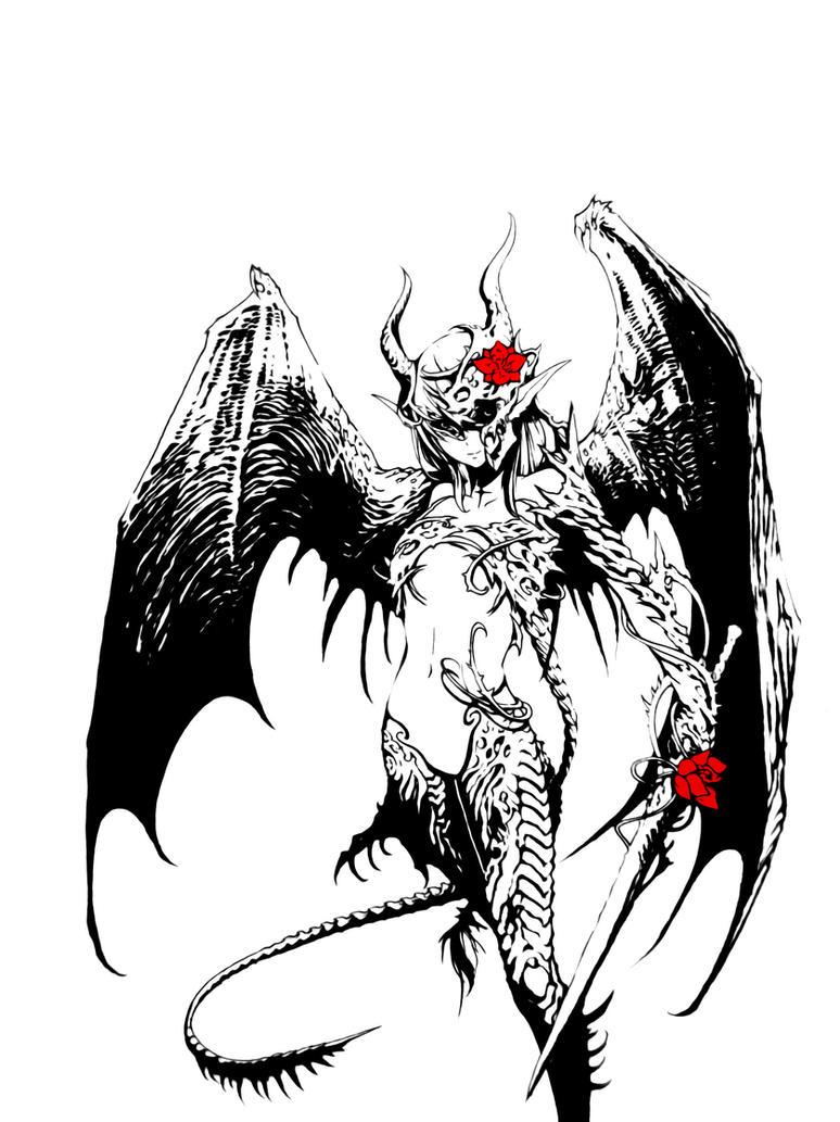 Demon girl by Basilisk193