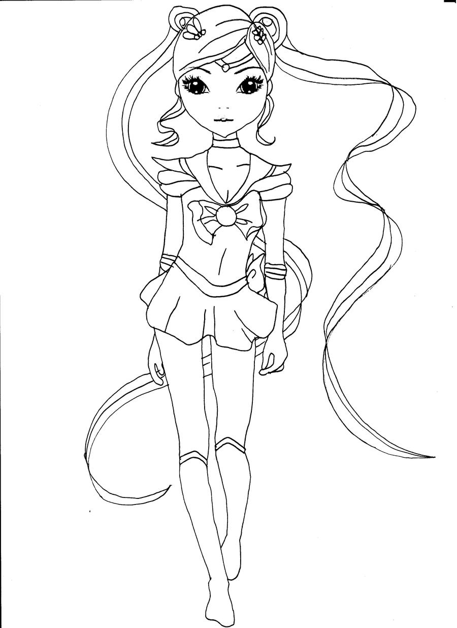 topmodel sailor moon by ka kind - Coloriage Top Model
