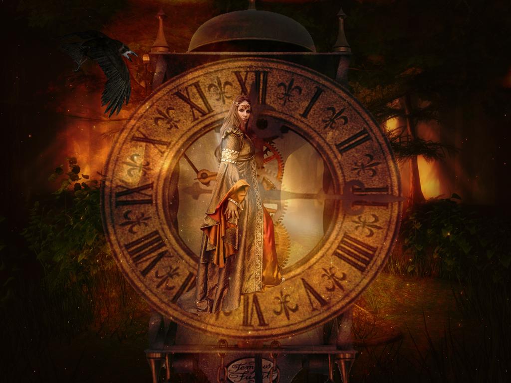 steampunk wallpaper clock - photo #9