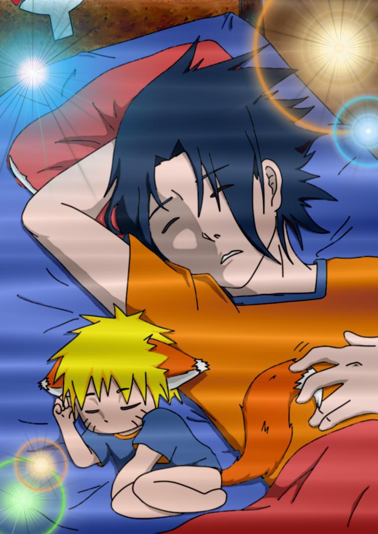 Sasuke Naruto - Sleeping with my Little Fox by SupremeDarkQueen