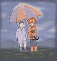 Naruto Hinata - Rainy Day