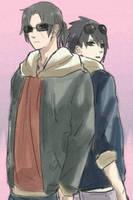 Sasuke Itachi - Hanging With the Bro by SupremeDarkQueen