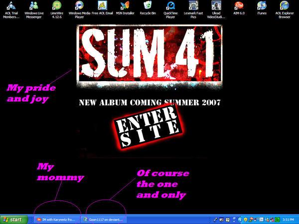 sum 41 wallpaper. Sum 41 new album Background by