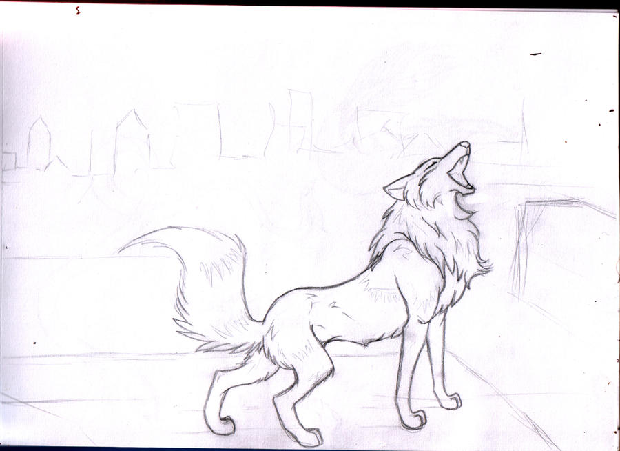howling wolf lineart 2 by Howling Wolf Lineart