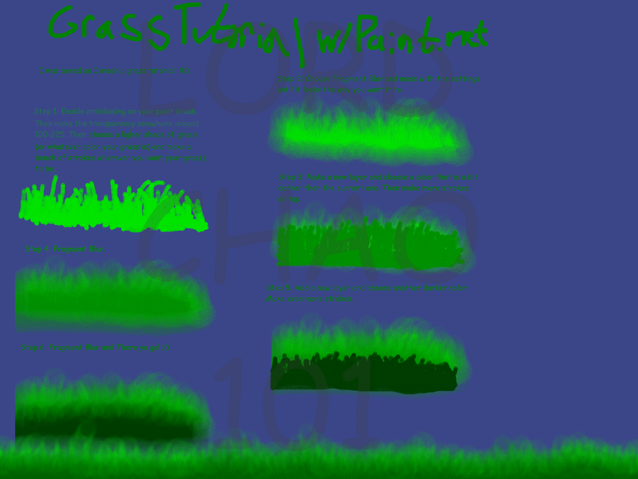 Grass Tutorial w.Paint.net by LordChao101