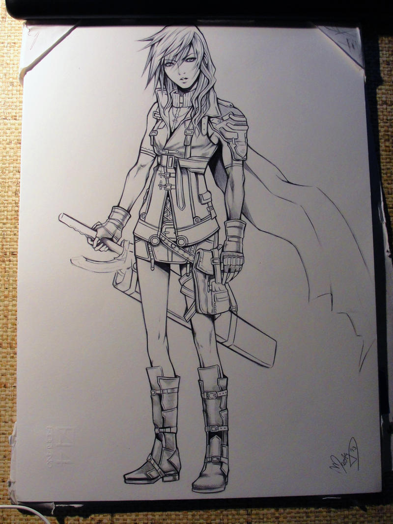 Lightning lineart by MartyIsi