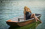 Slavic Vila on a boat by MartyCos-Art