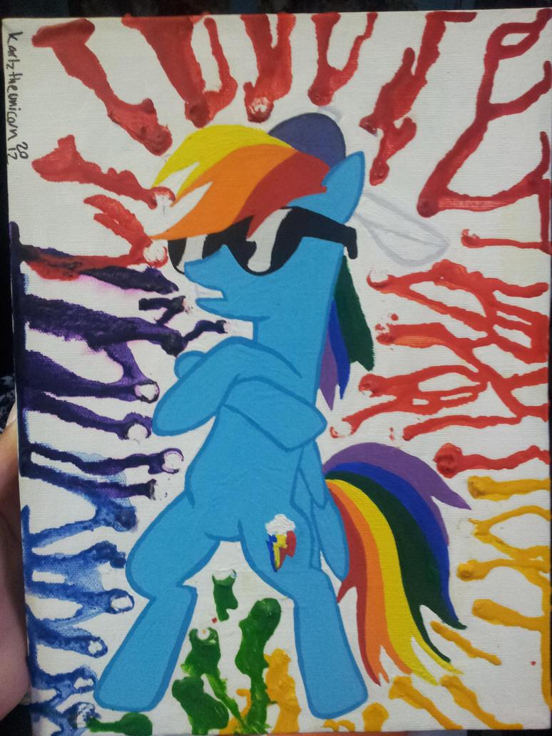 Raindrops mlp painting by LightningChaser on DeviantArt
