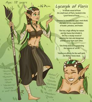 Lycarah reference sheet