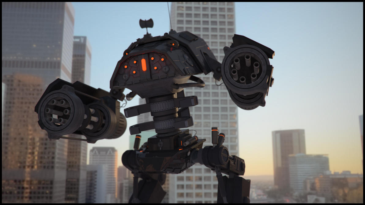A Robot in the City 01 by just-dom