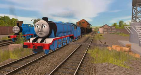 A goods train! A goods train!