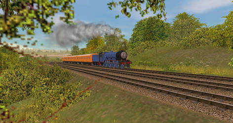 Steaming up the hill