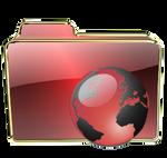 Red gloss Downloads Folder