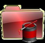 Red gloss art folder