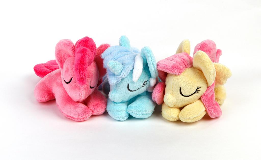 Sleeping ponies by GingerAle2016