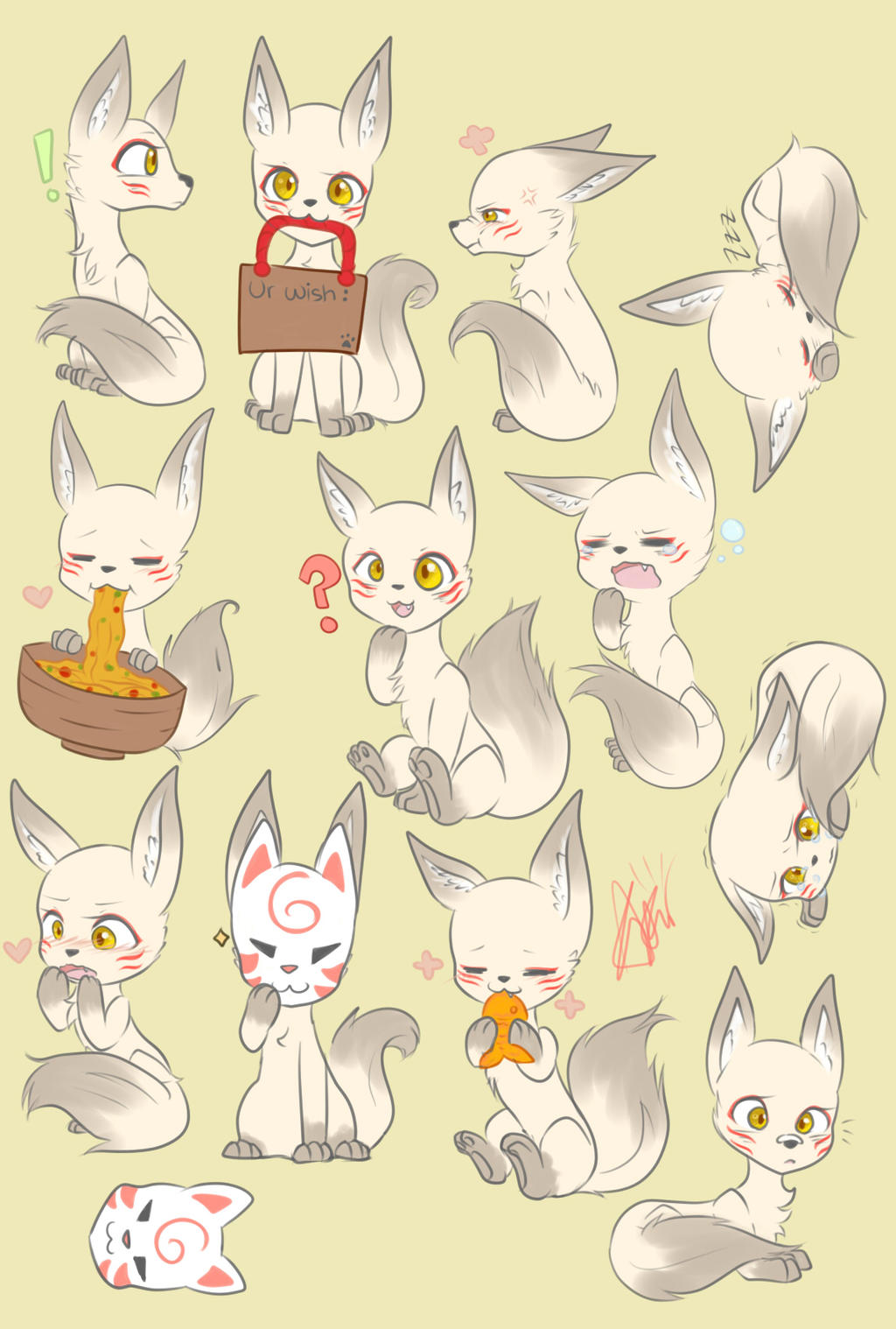 Kitsune! by Astral-Dragoness