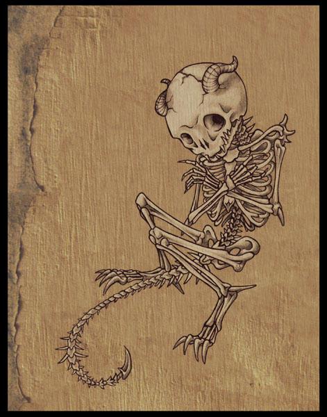 alternate demon skeleton by Pokoa