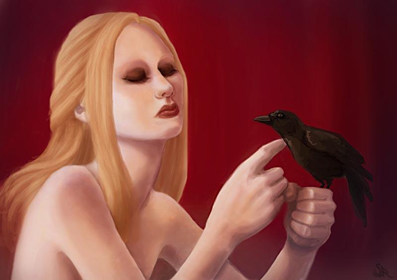 Black bird by Pokoa