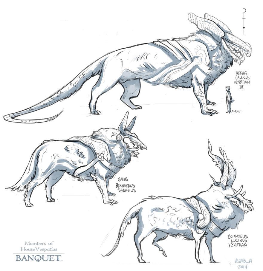Pit Beasts of House Vespatius by Nhaar