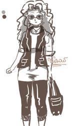 Modelo , chica con rulos x3 by MisaoMoshita