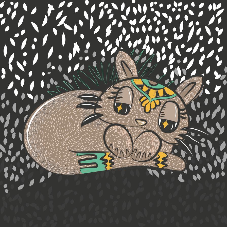 Gato mandala cosmico by MisaoMoshita