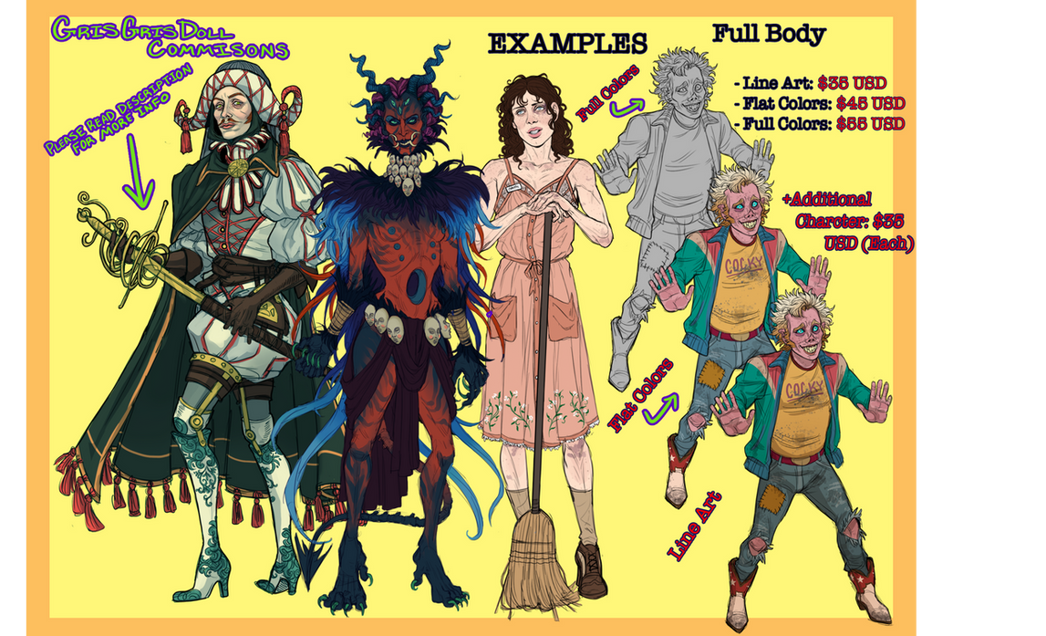 2020 Commission Prices: Full Body