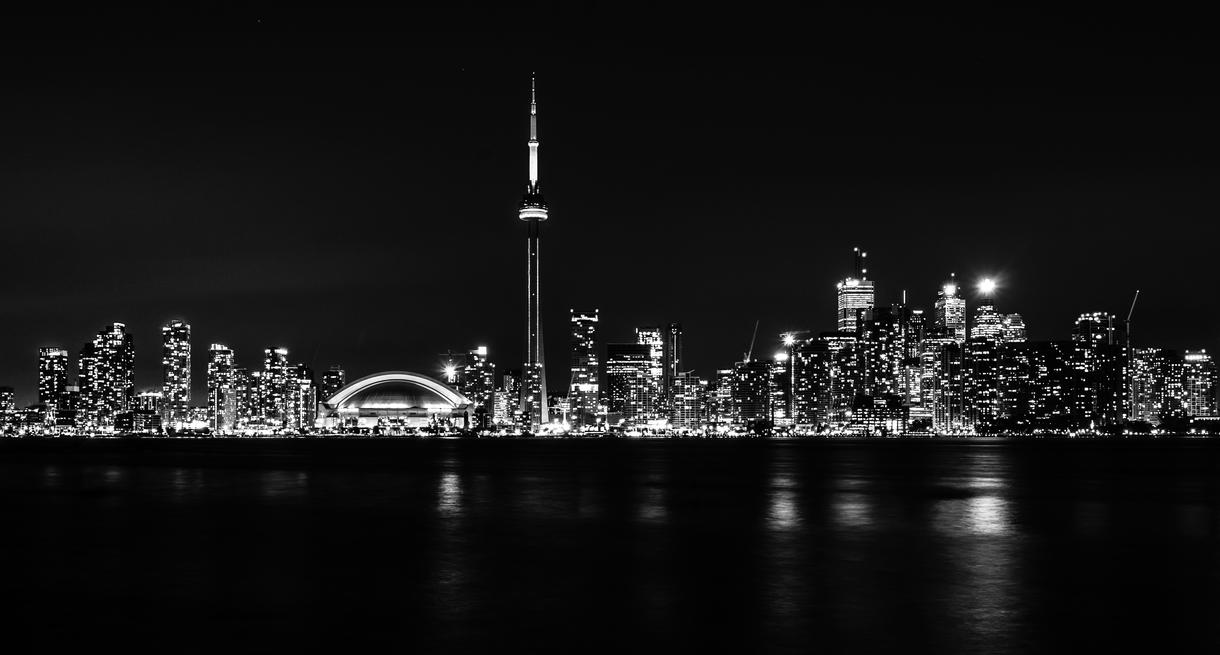 Toronto at night black...