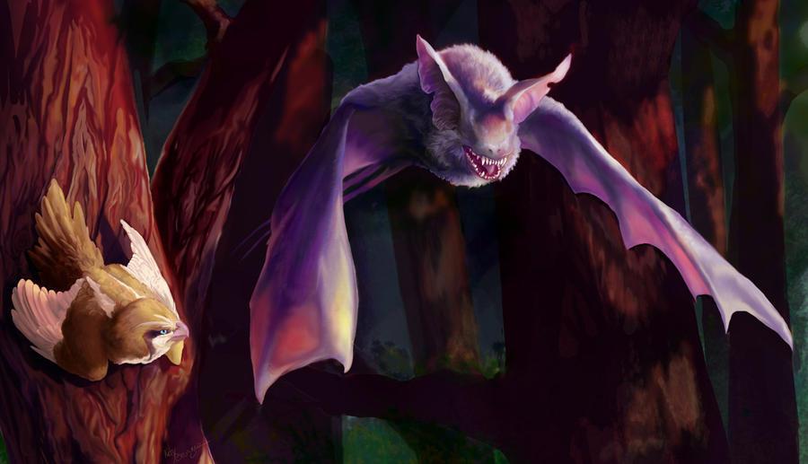 Zubat vs Pidgey by Tygarii-Razil