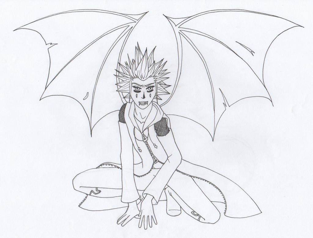 Halloween Town Axel (inked) by themsgothgirl
