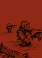 US Marines In Action by GiviDvali