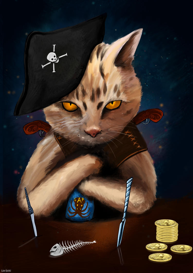 Pirate Cat by GiviDvali