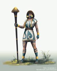 Female warrior - character design