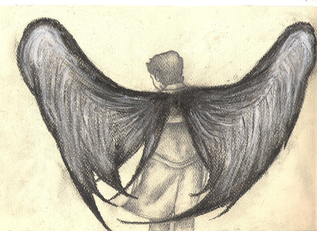 how to draw supernatural angel wings