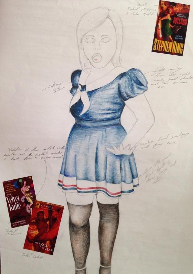 Pin-Up Girl Pencil Study by JellyBeaniez on DeviantArt
