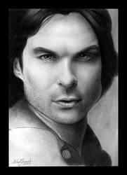 Damon Salvatore by MishaART