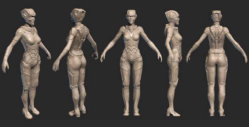 Sci-Fi suit concept stage