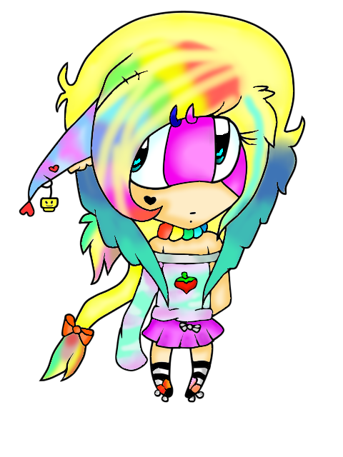 Chibi Rainbow Girl by Raini-Notes