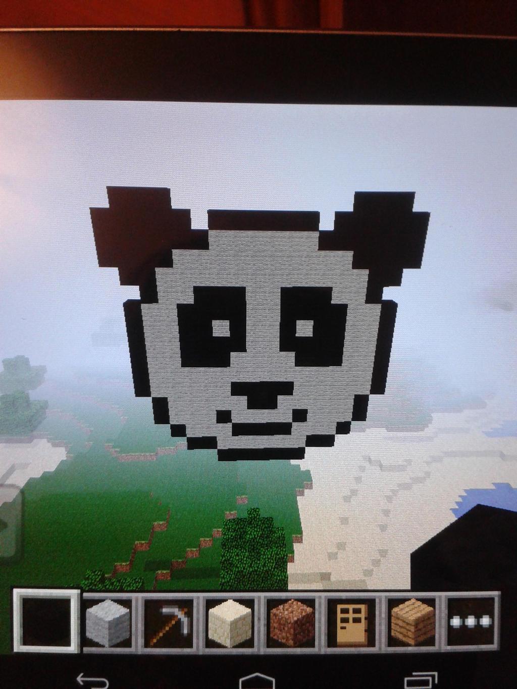 Panda Pixel Art Minecraft