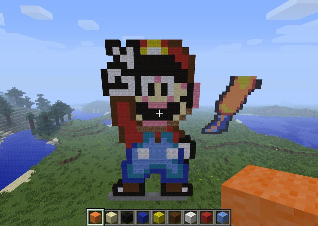 Mario   Minecraft Pixel Art By Rest In Pixels ...