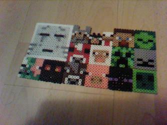 minecraft mobs - perler beads by Rest-In-Pixels