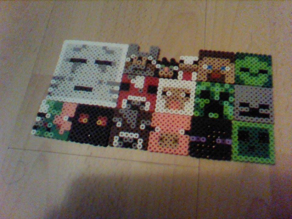 Minecraft Mobs Perler Beads
