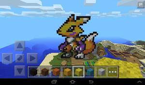 renamon - minecraft pixel art